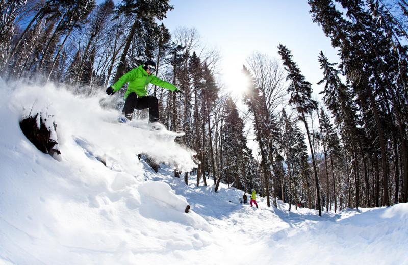 Skiing at Stoneham.