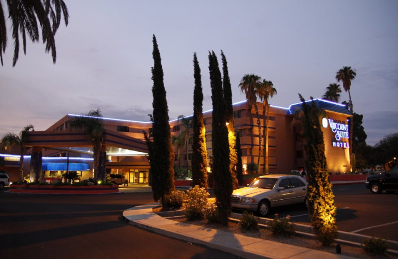 Exterior view of Viscount Suite Hotel.