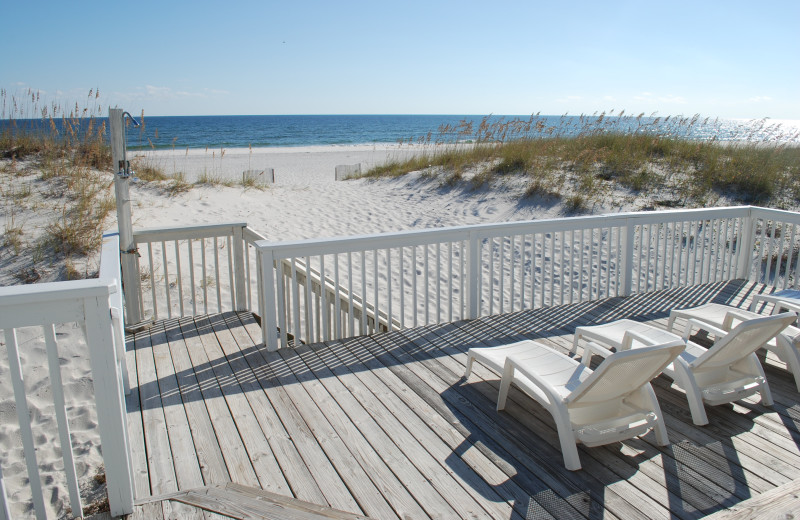 Rental deck at Gulf Shores Vacation Rentals.
