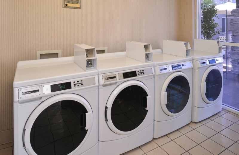 Laundry room at The Best Western Abbey Inn Hotel.