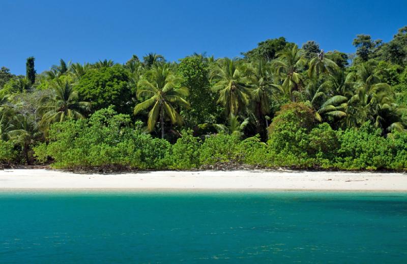 Beach at Hacienda del Mar Private Island Resort, Panama.