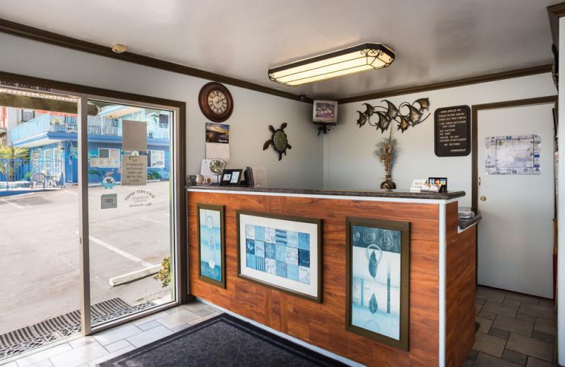 Reception at Aqua Breeze Inn.