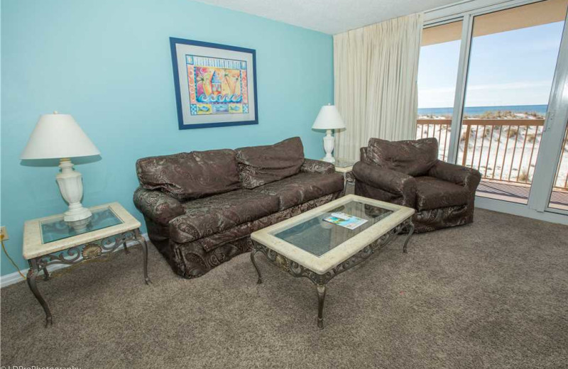 Living room at Holiday Isle Properties - Pelican Beach 110.