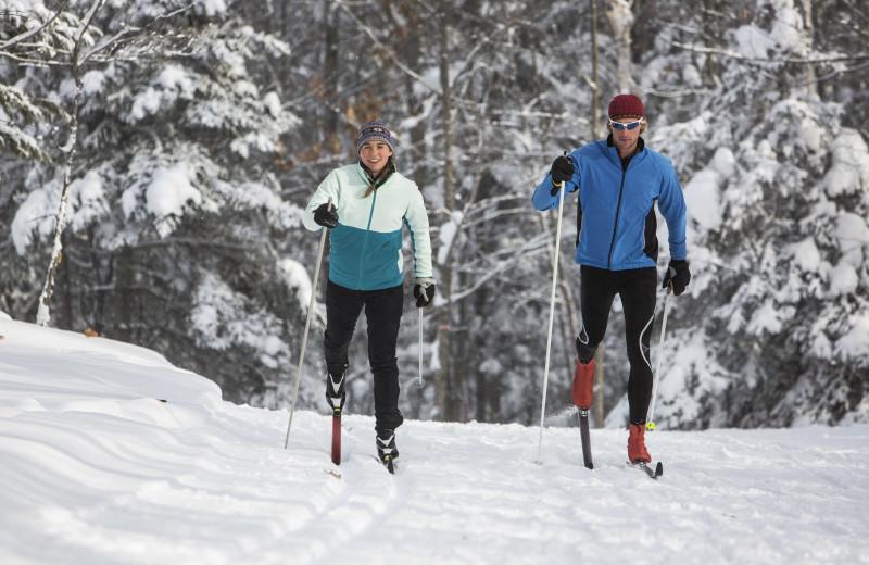 Skiing at Lutsen Resort on Lake Superior.