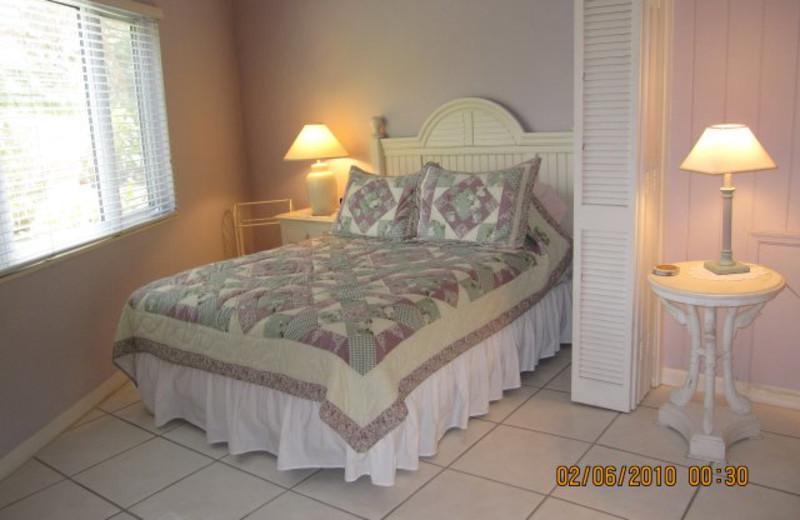 Cottage bedroom at Palms Of Sanibel.