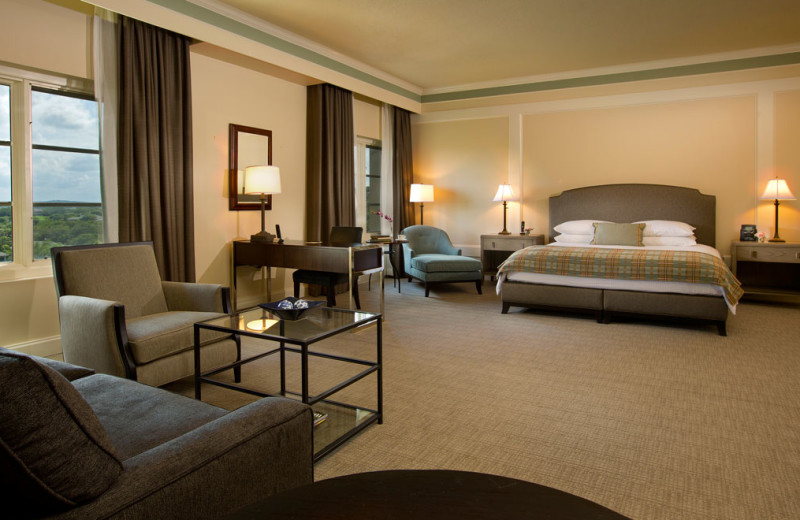Guest room at Omni Barton Creek Resort & Spa.