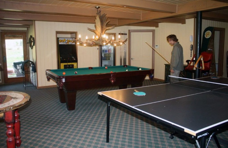 Rental recreation room at Welcome to Telluride Vacation Rentals.