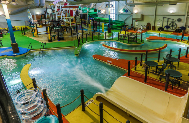 Indoor water park at Grand Harbor Resort and Waterpark.