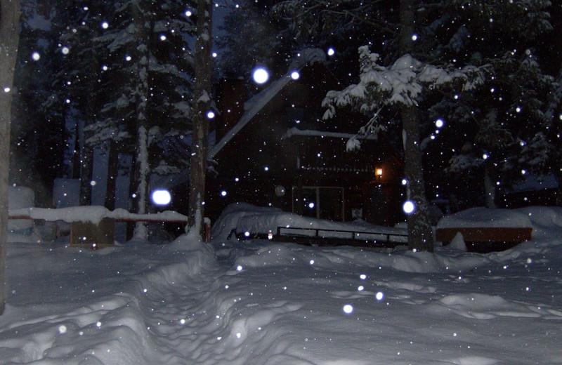 Winter at North Shore Lodge & Resort.