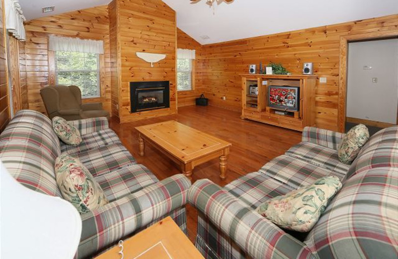 Rental living room at Eden Crest Vacation Rentals, Inc.