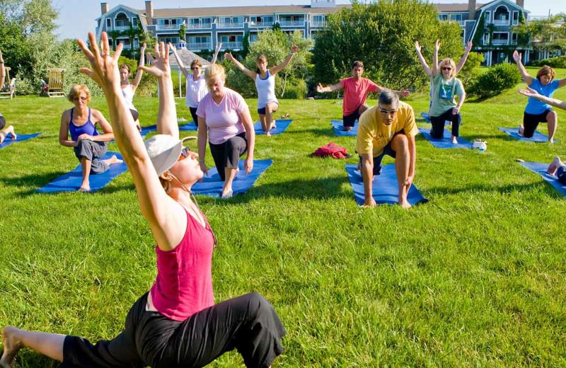 Yoga at Winnetu Oceanside Resort.