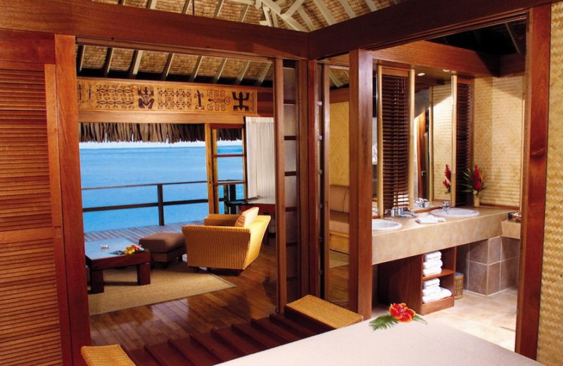 Guest room at Moorea Beachcomber Inter-Continental Resort.