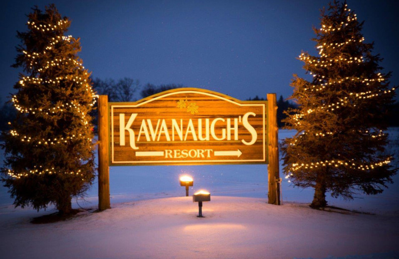 Winter at Kavanaugh's Sylvan Lake Resort.