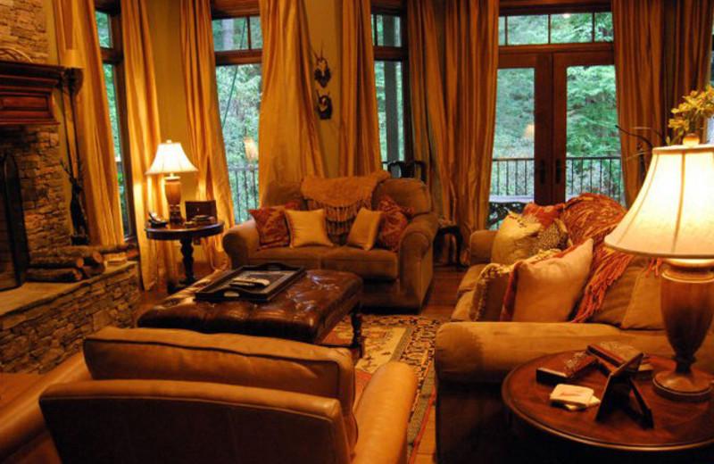 Lobby view at Brigadoon Lodge.