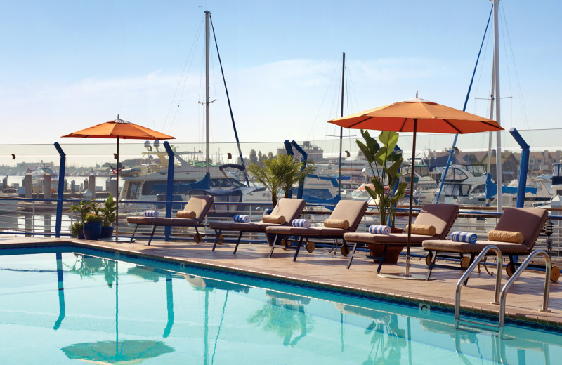 Outdoor pool at Waterfront Plaza Hotel.