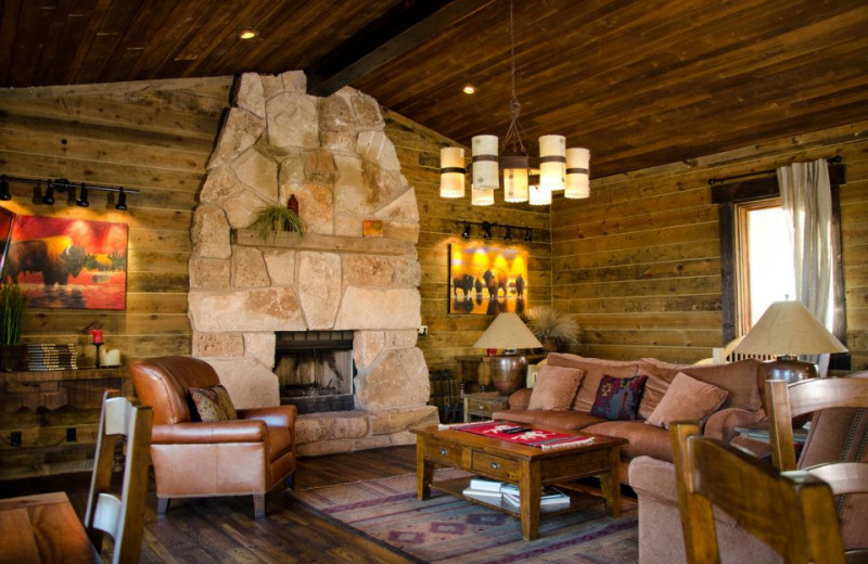 Cabin suite interior at Zion Mountain Ranch.