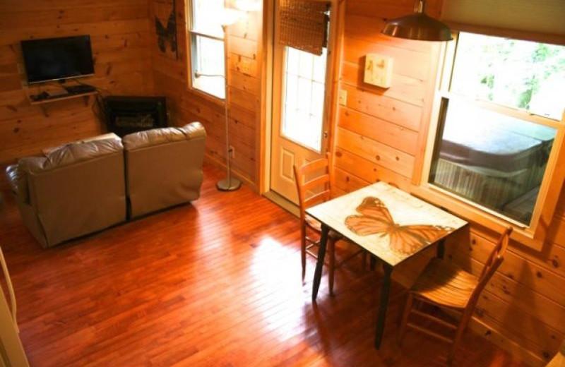 Cabin interior at Red River Gorge Cabin Company,