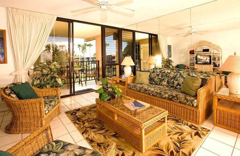 Spacious living area at Kamole Sands.