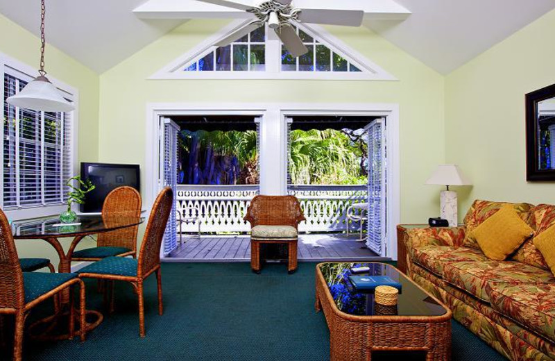 Guest living room at The Banyan Resort.