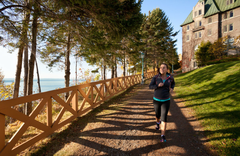 Jogging at Fairmont Le Manoir Richelieu.