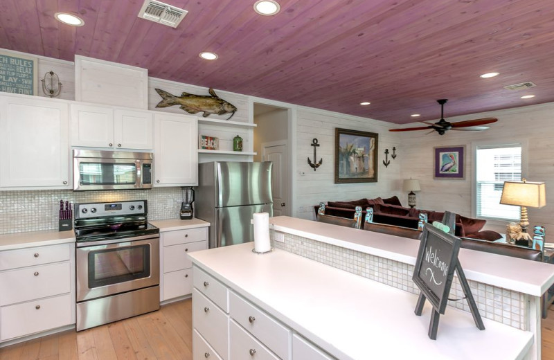 Rental kitchen at Silver Sands Realty.