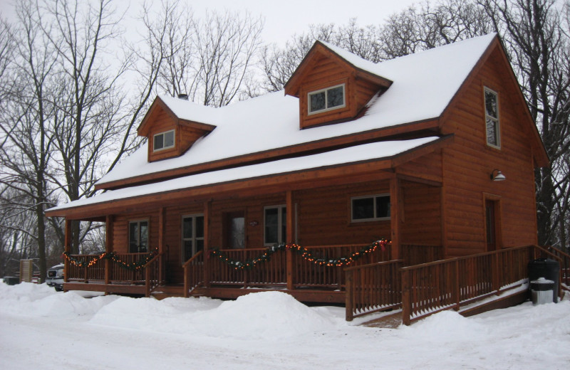 Winter time at Red Cedar Lodge.