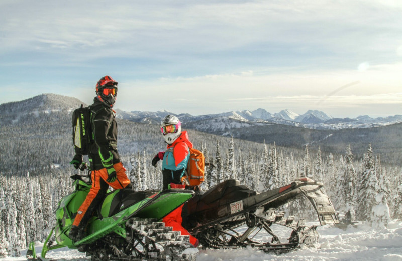 Snowmobiling at Fernie Central Reservations.