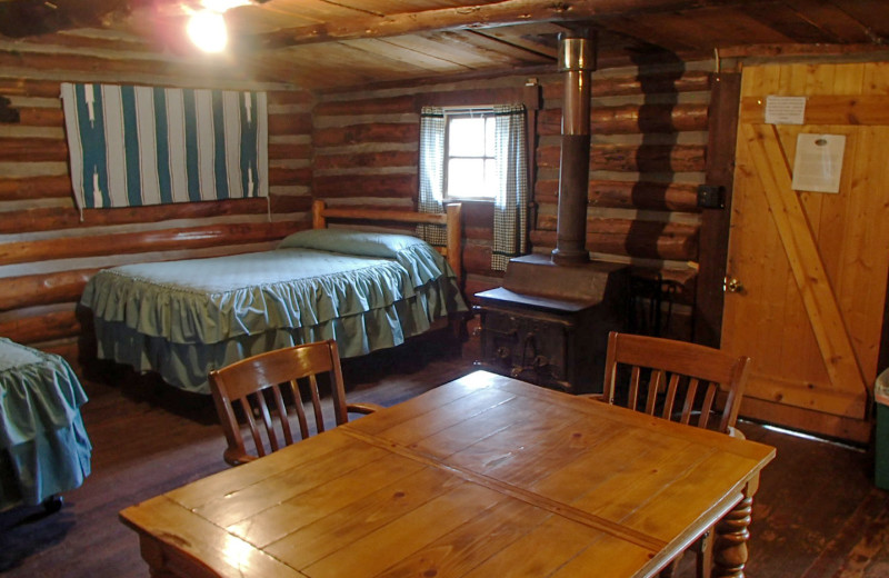 Cabin interior at Trappers Lake Lodge & Resort