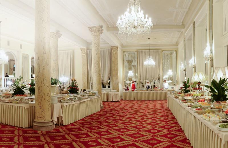 Dining at Grand Hotel of Rimini.
