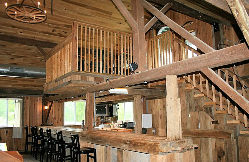 Lodge interior at  Elk Ridge Ranch.