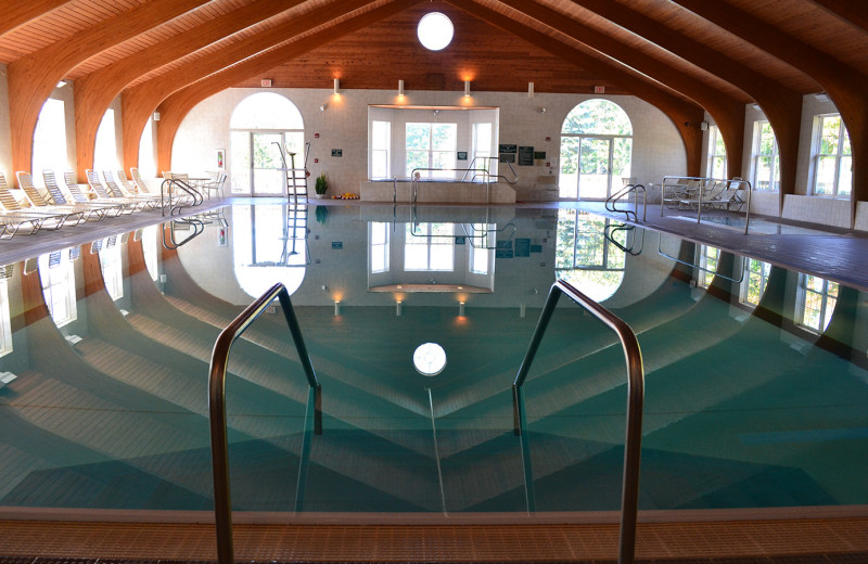 Indoor pool at Woodloch Resort.