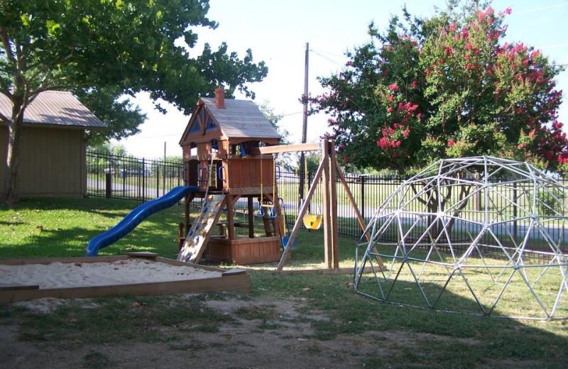 Kid's playground at Hill Country RV Resort & Cottage Rentals.