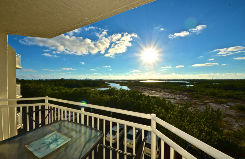 Guest balcony at Sunrise Suites Resort.