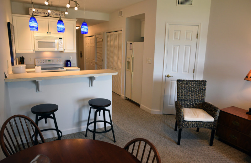Guest kitchen at Mariners Landing.