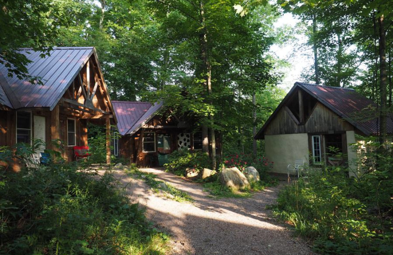 Cabins at Common Ground Center.