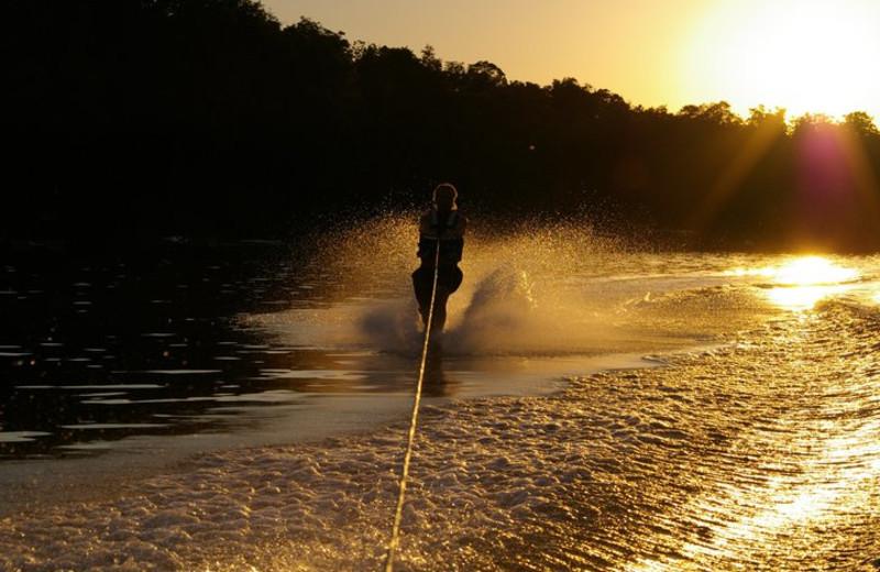 Water skiing at Lumina Resort.
