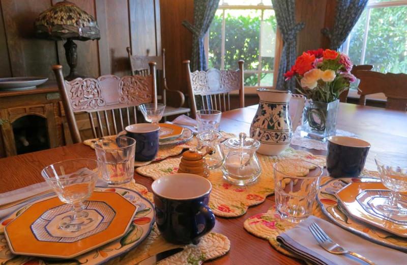 Breakfast at Lamb's Victorian Inn.