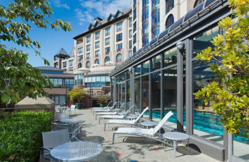 Pool at Delta Victoria Ocean Pointe Resort and Spa.