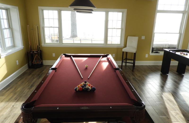 Billiard table at Waters Edge B&B Resort.