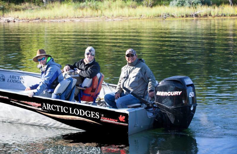 Fishing at Arctic Lodges.