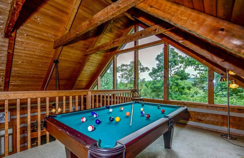 Cabin loft at TNT Cabin Rentals.