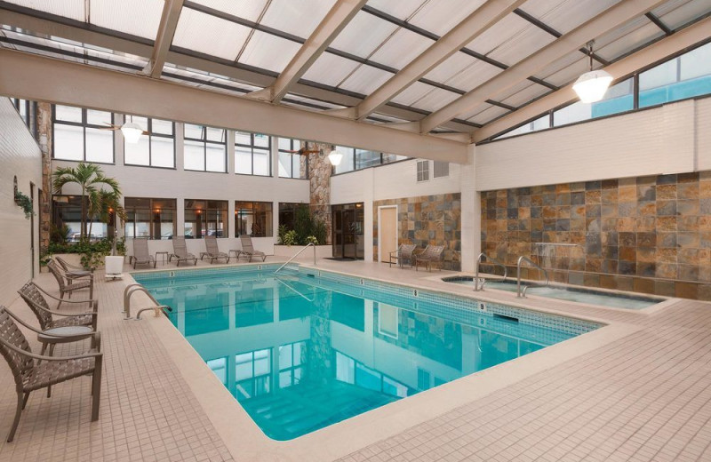 Indoor pool at Quality Inn Boardwalk Ocean City.