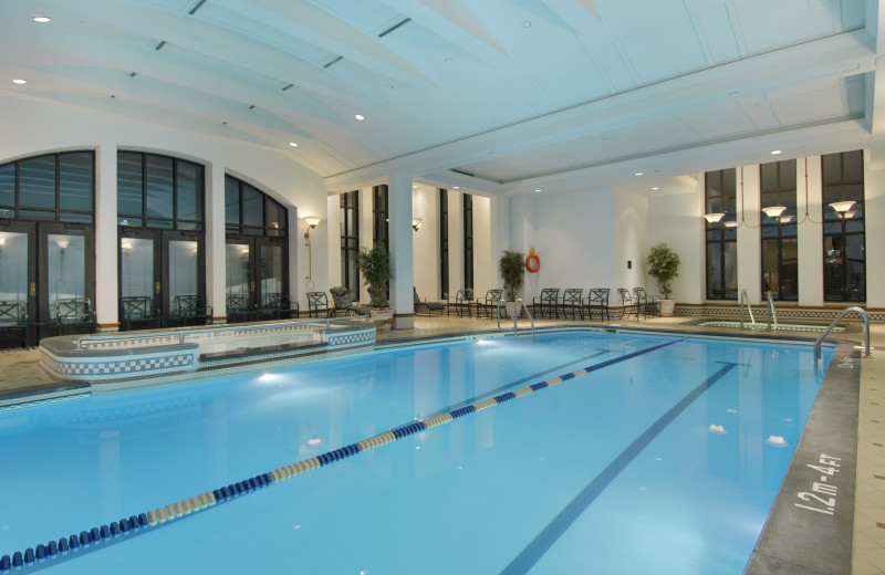 Indoor pool at Fairmont Le Chateau Frontenac.