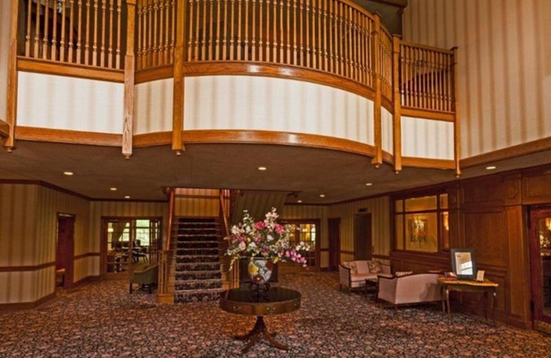 Lobby at Stonehedge Inn and Spa.