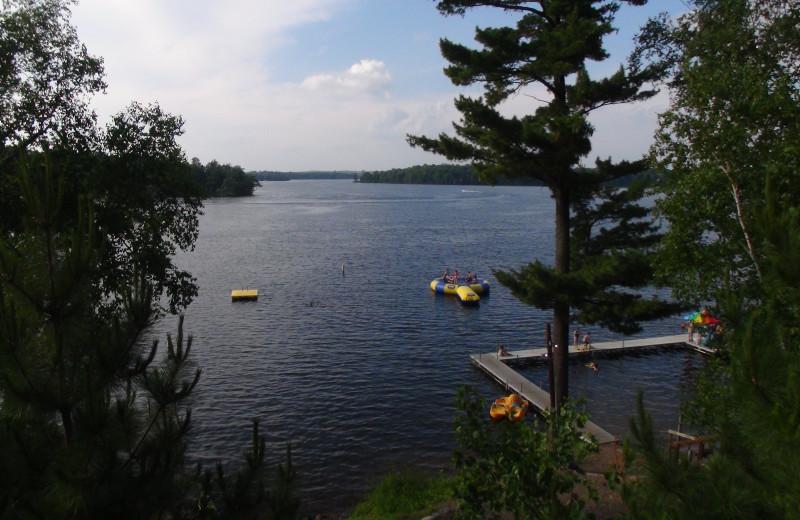 Lake view at Woodland Beach Resort.