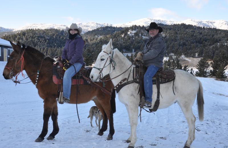 Horseback riding at Hardscrabble Ranch.