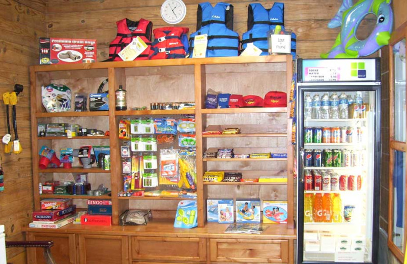 Resort Store at The Edgewater Waterfront Cottages