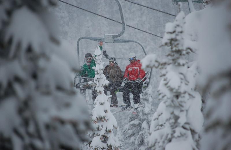 Skiing at Bear Hill Lodge.