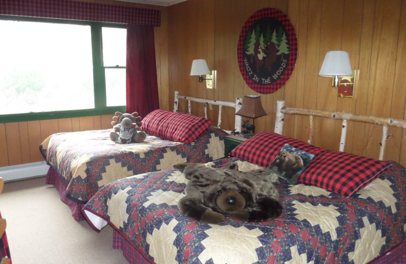 Guest room at The Inn at Whiteface.