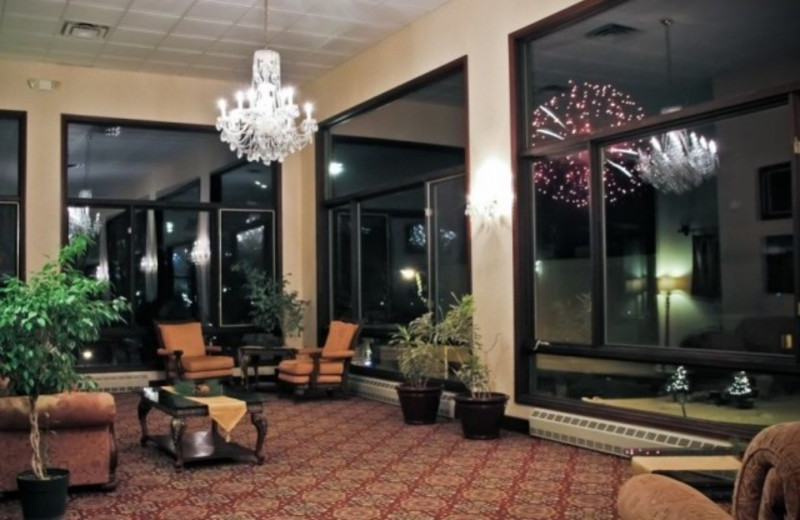 lobby at Lake Placid Summit Hotel Resort Suites.